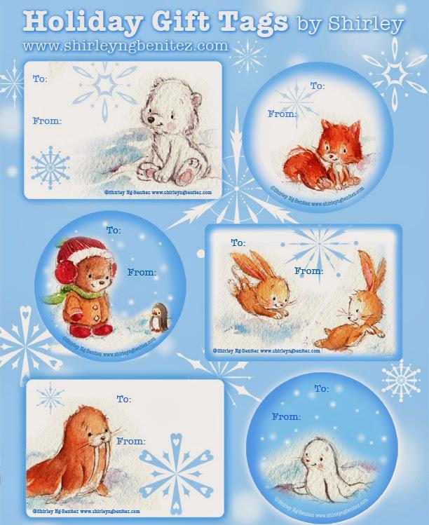 Navidad: imprimibles con animales.