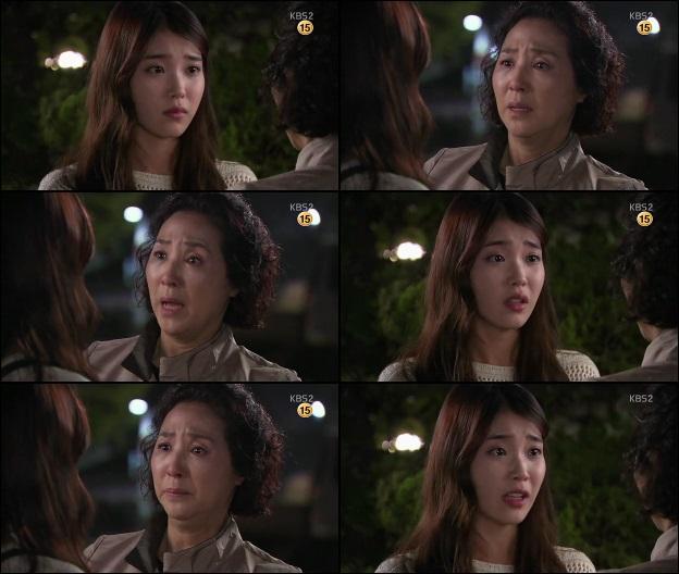 Soon Shin dan ibu sudah berlinangan air mata, lalu ibu merangkul Soon