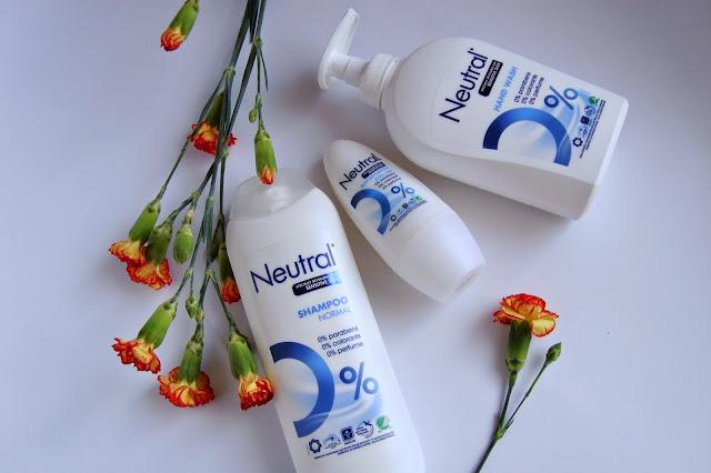 Produkty Neutral do skóry wrażliwej - Szampon, antyperspirant i płyn do rąk.
