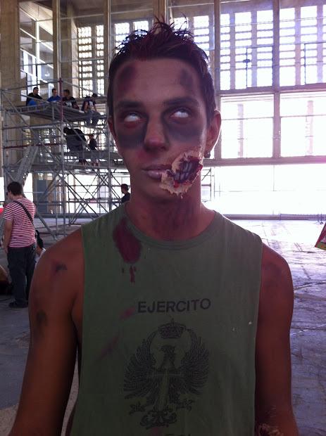zombi del ejercito español en la Comic Con Spain 2012
