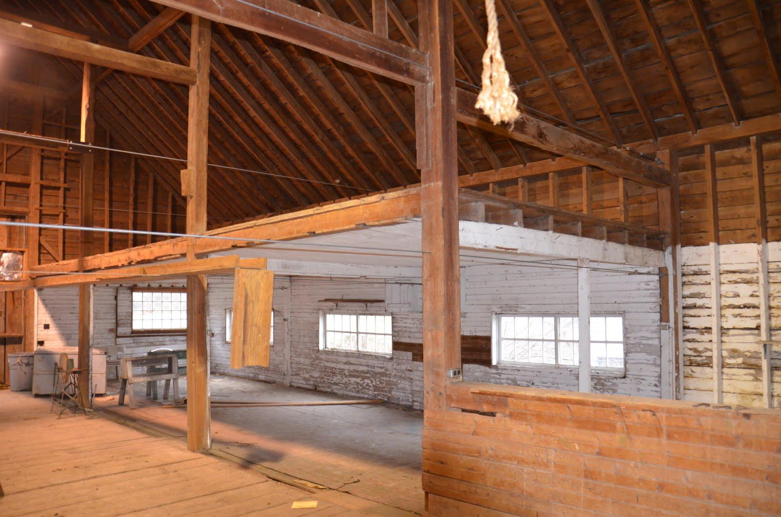 Middlebury barn renovation interior for Barn renovation