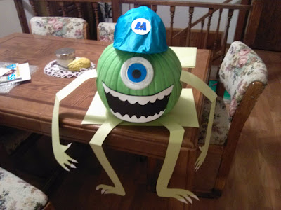 Monsters Inc. Mike Wazowski Pumpkin