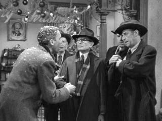 Jimmy Stewart and bank examiners Its a Wonderful Life 1946 movieloversreviews.blogspot.com