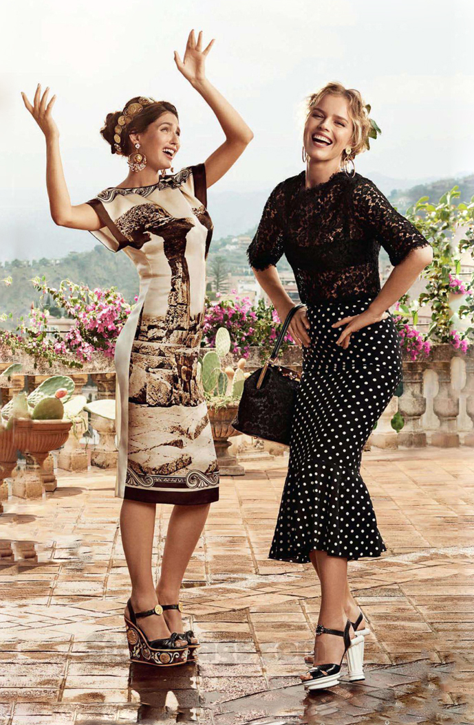Bianca Balti & Eva Herzigova in Dolce & Gabbana Spring/Sumemr 2014 campaign via fashioned by love british fashion blog / best diet to lose weight fast / most effective diet / nutrition tips / diet tips / how to lose weight safely