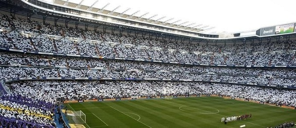 Real Madrid Stadium full of white jerseys