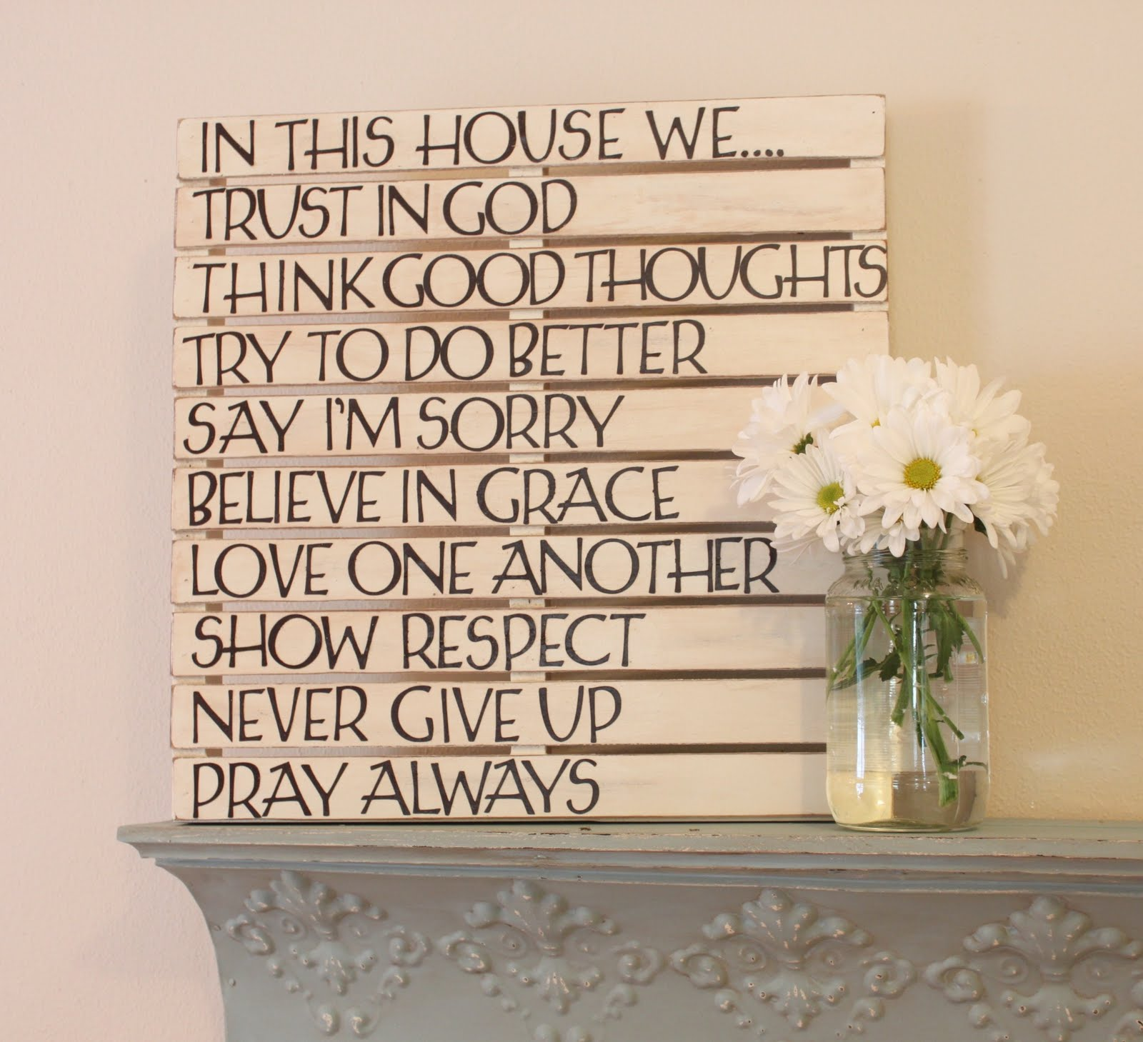 Faqs love of family home - Wall decor diy ...