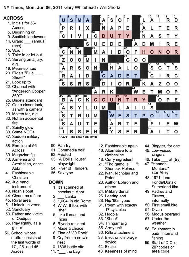 Spirited Crossword
