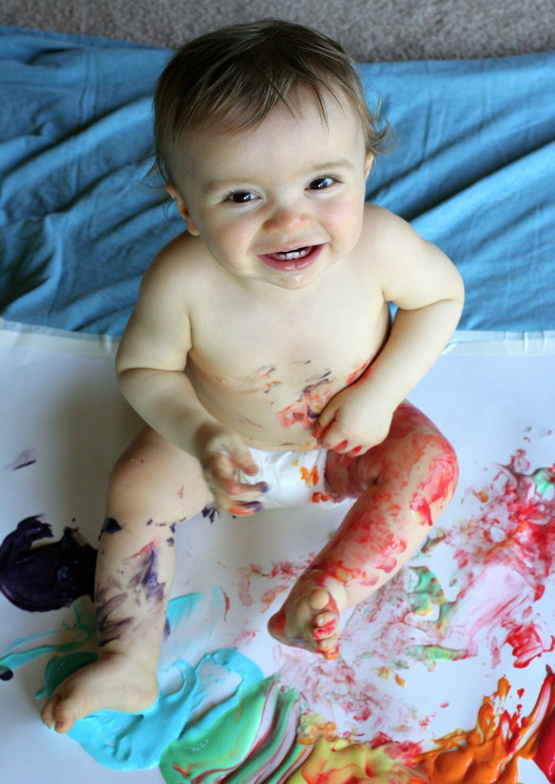 Scented Edible No Cook Fingerpaint Recipe For Babies And