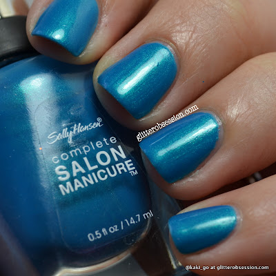 Sally Hansen Calypso Blue over China Glaze Caribbean Blue