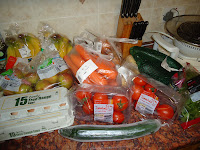 Some of the Fruit and Veggies from the Sainsbury's shop