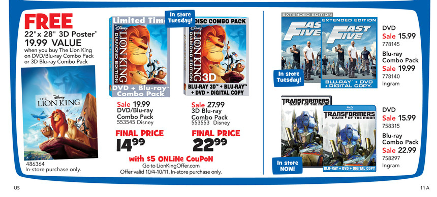 Toys R Us Dvd : Blu ray dvd exclusives the lion king toys r us