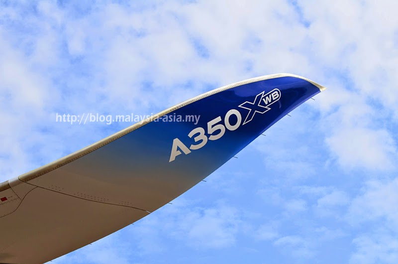 Wing of Airbus A350 XWB