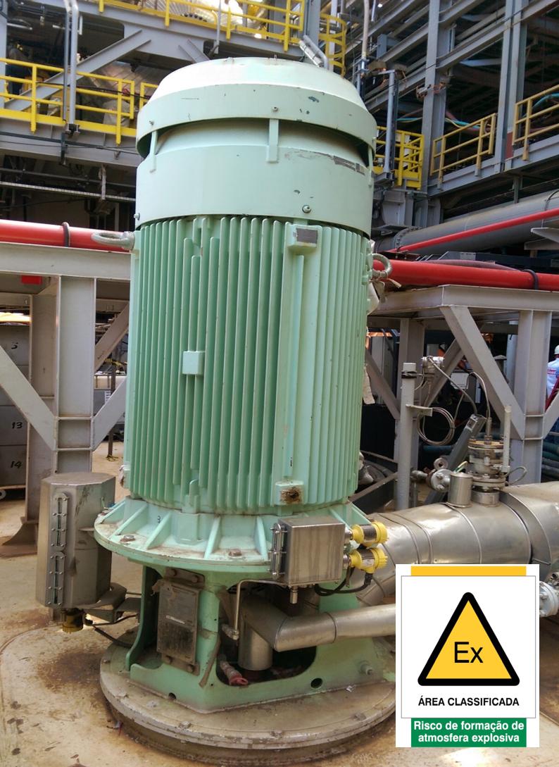 """Motor Ex """"eb"""", com tensão nominal de 4.16 kV, instalado em área classificada de FPSO"""