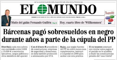 El Mundo destapa el escándalo de sobresueldos en el PP, Bárcenas