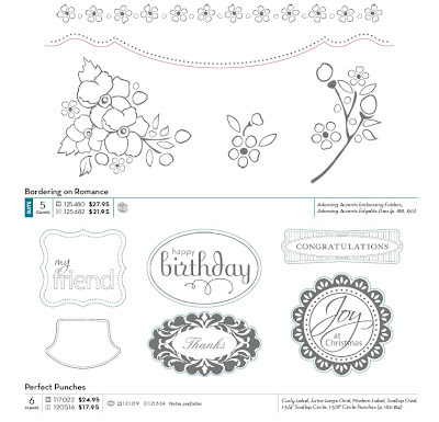 Stampin Up Catalog image showing the color coding for matching punches and dies.