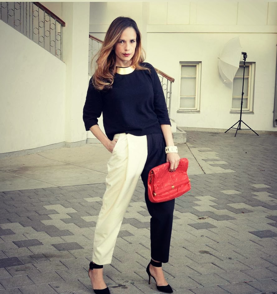 blackandwhite, street-style, fashionable, chloe, stylish ,widepants, fashionblog, בלוגאופנה