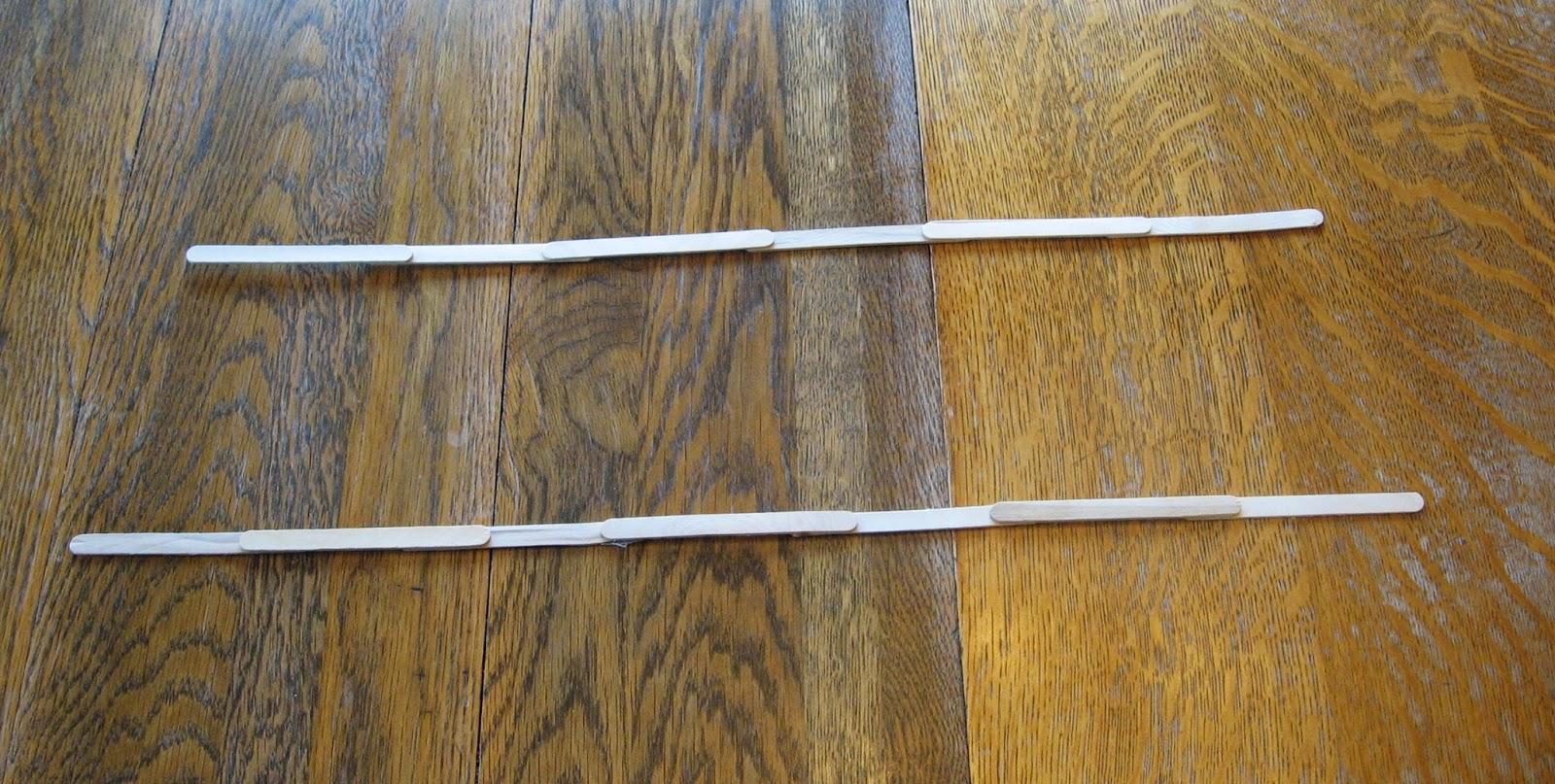 Long wooden craft sticks - 30 58cm Long Sticks And 35 62cm Long Sticks
