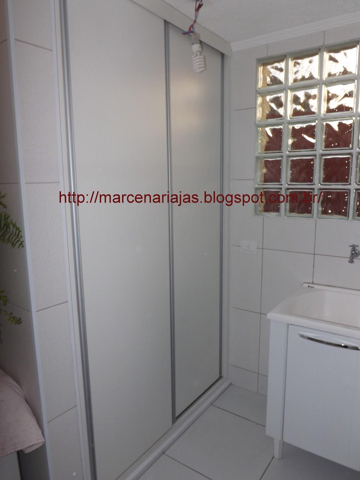 Armario De Lavanderia Com Porta De Correr : Marcenaria j a s armario de lavenderia e porta para