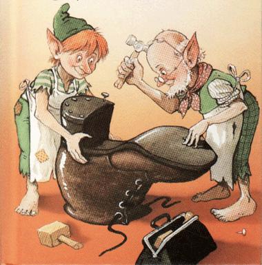 Cuentos m gicos los duendecillos los hermanos grimm for Imagenes de zapateros