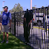 Phil Mickelson hits shot from behind a fence at Farmers Insurance Open (Video)
