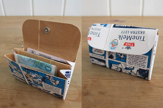lag din egen melkekartonglommebok
