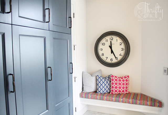 Navy blue, pink and bold model home tour with Thrifty and Chic