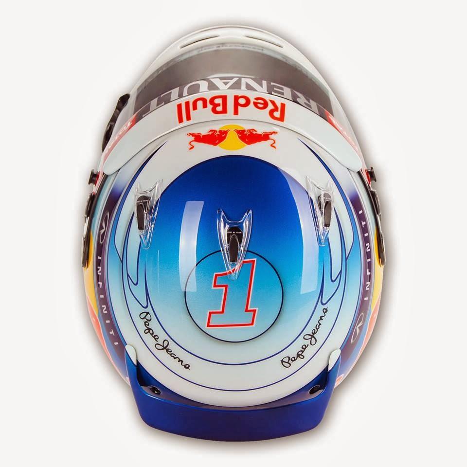 Sebastian Vettel Helmet 2014 CAPACETES F1