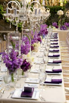 Wonderful Purple Table Setting & Bobka Baby and Bridal
