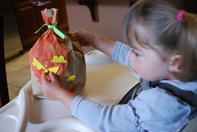 child making pumpkin