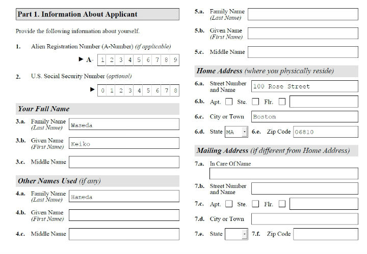 Americans Are Us Completed Example Form I 601a Filled Sample For