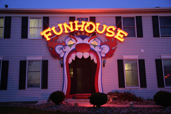 creepy funhouse