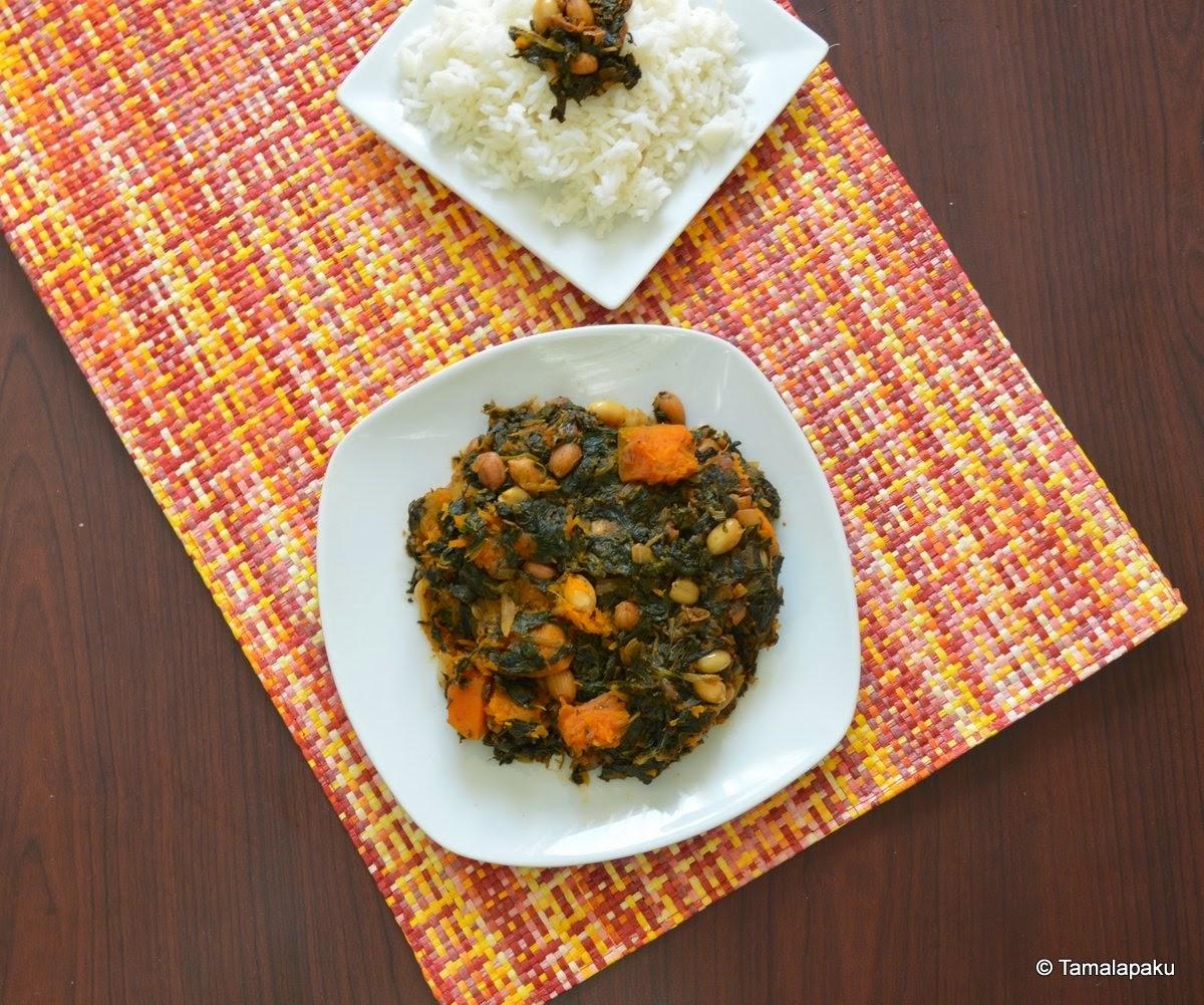 Ifisashi (Spinach-Peanut Cury)