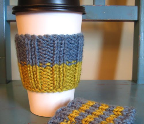 Free Knitting Pattern Coffee Cup Sleeve : Coffee Sleeve Pattern Patterns Gallery