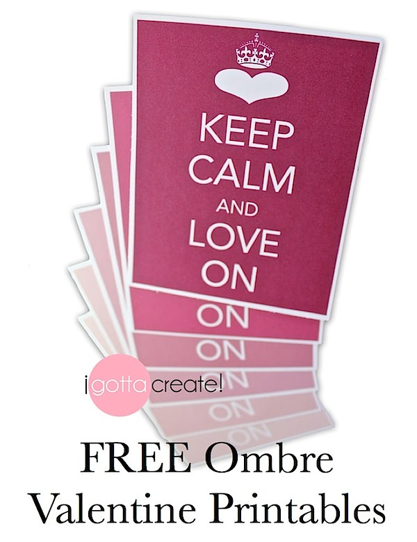 i gotta create keep calm and love on printable