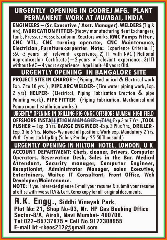 Urgent Job Openings Middle East