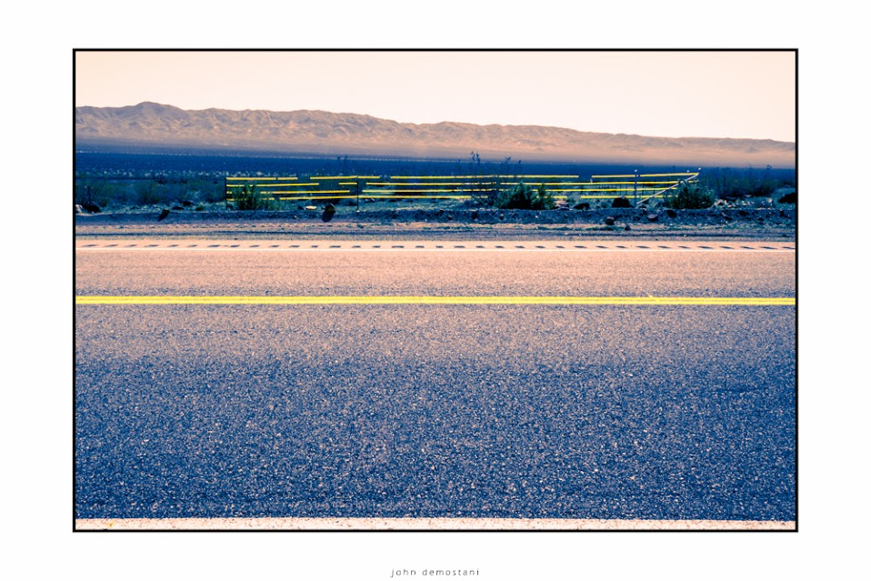 California, Desert, Landscape, Mountains, Nature, Roads, Sand, Sky, Yellow Stripes, Signs, Railroads