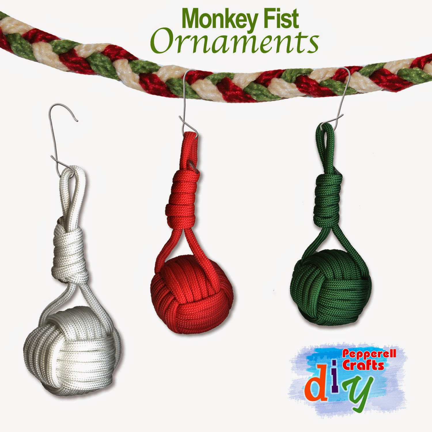 How-to: DIY Monkey Fist Holiday Ornaments