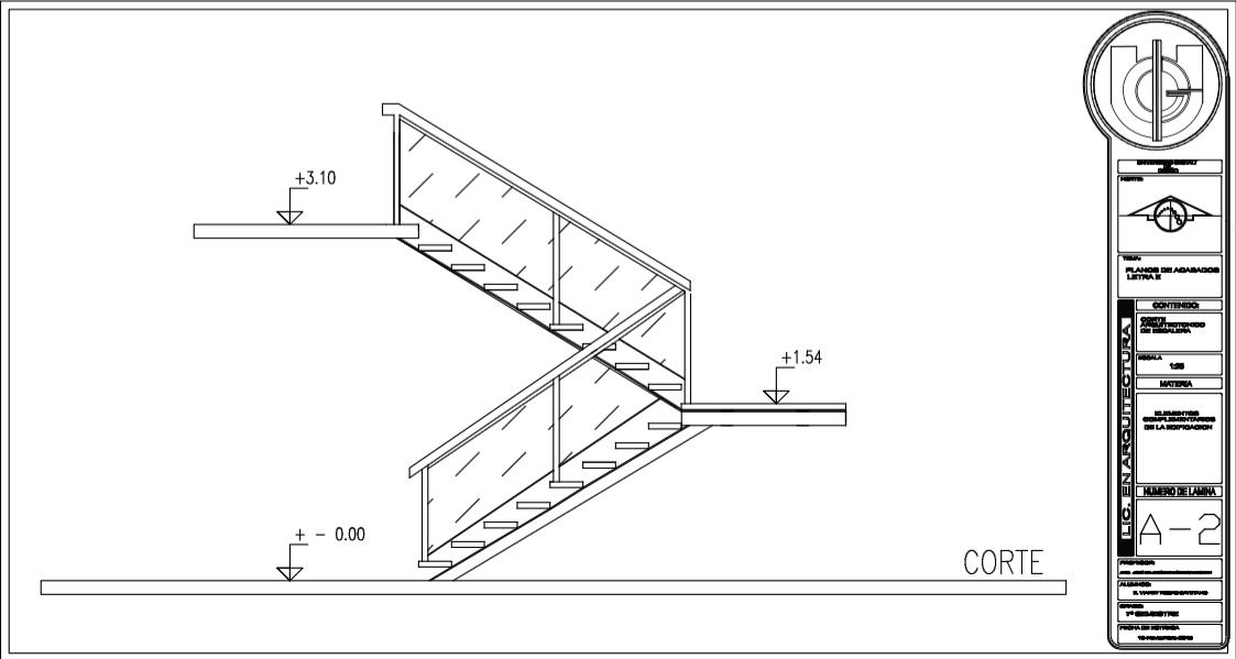 Planos de escaleras for Escaleras metalicas planos