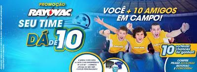 "Promoção ""Rayovac dá de 10"""