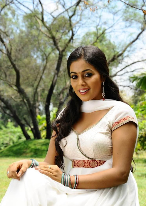 poorna in white dress latest photos