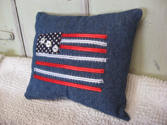 patriotic home fabric decor