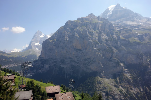 "Alps, Bernese, Swiss, Switzerland, Bern, Interlaken, Lauterbrunnen, Murren, Cable Car, how to get up the Schilthorn, James Bond, filming locations, price, Schilthorn, view, Eiger, Monch, Jungfrau, Birg, cost, price, North Face, budget, hike, easy hike, mountain, ""On Her Majesty's Secret Service"","
