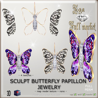 SCULPT BUTTERFLY PAPILLON JEWELRY
