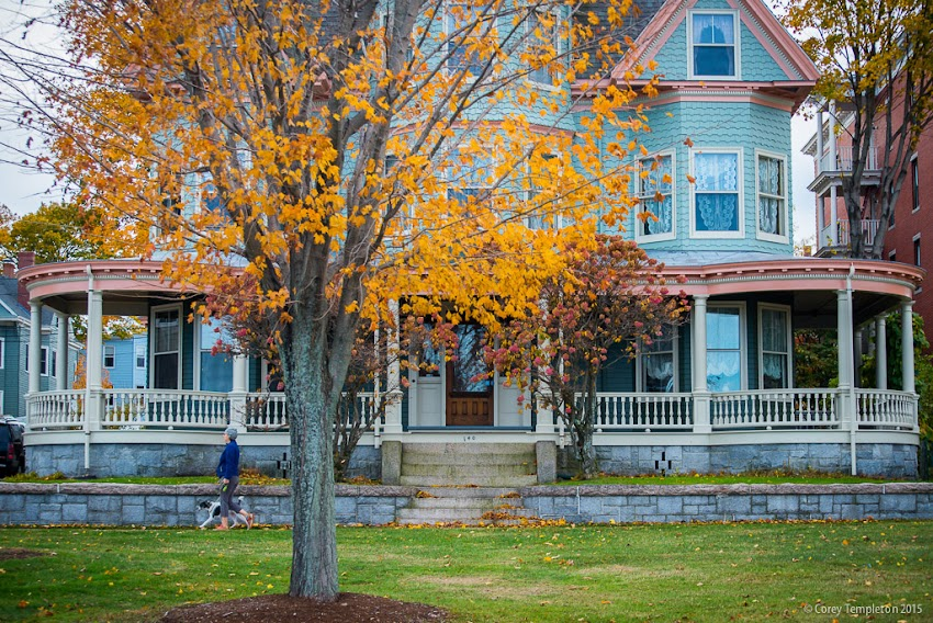 Portland, Maine October 2015 Munjoy Hill at Eastern Promenade house with foliage photo by Corey Templeton.