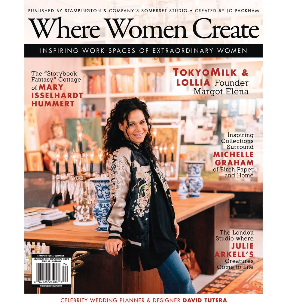 "FEATURED IN: ""WHERE WOMEN CREATE - INSPIRING WORKSPACES OF EXTRAORDINARY WOMEN."""