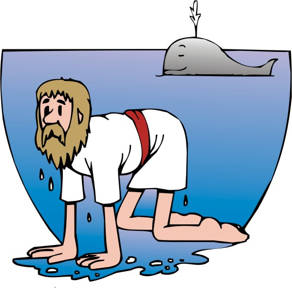 Clipart - Jonah and the Whale 1 title=