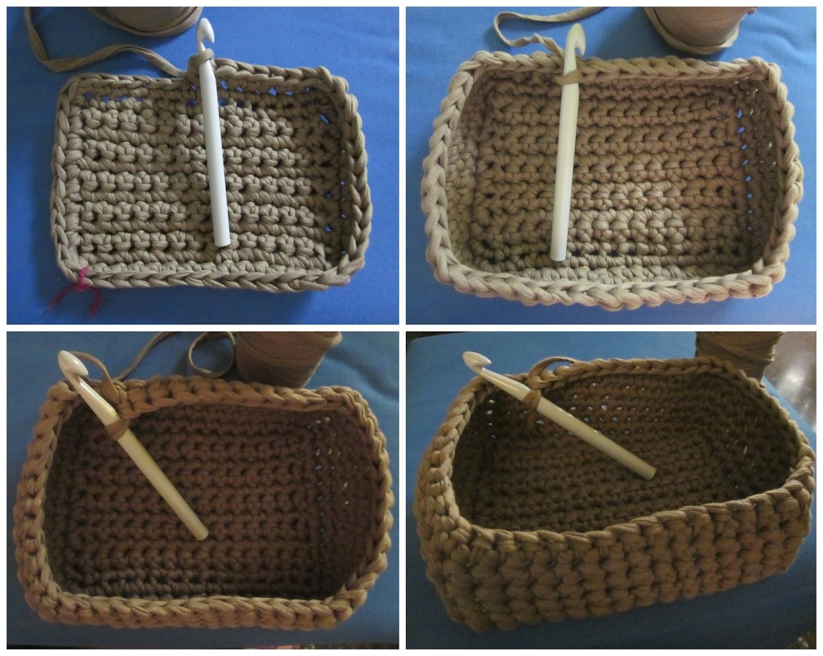 El taller de hijas perezosas cesta de trapillo - Cestas de trapillo ...
