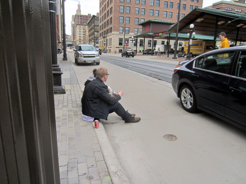 twin city sidewalks: People Sitting on Things that Aren't ...