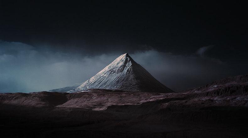 Paisajes espectaculares de Islandia a través de un lente de infrarrojos