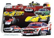 Reuni em um só pôster os carros mais representativos do grande Tite Catapani .